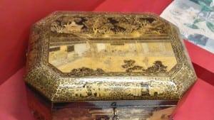 A tea box